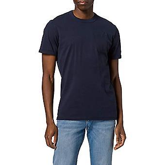 Tom Tailor 1024570 Basic Pocket T-Shirt, 10302-Bleu foncé, S Homme