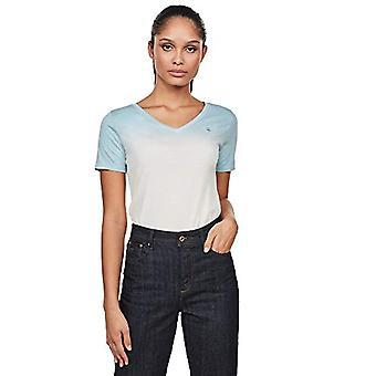 G-STAR RAW Mysid Dip Kortärmad T-Shirt, Siali Blå B059-7165, X-Large Kvinna