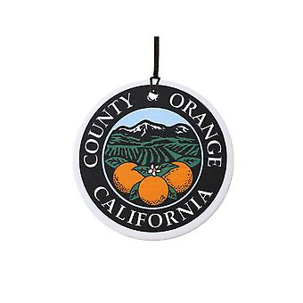 California Orange County Seal Car Air Freshener