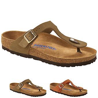 Birkenstock Donna Gizeh Soft Footbed Nubuck Sandali