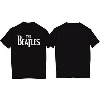 The Beatles - Drop T Logo Men's XX-Large T-Shirt - Noir