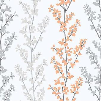 Tempo Branch Orange Wallpaper