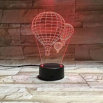 Hot Air Balloon 3d Led Night Light Kids Bedroom Table Lamp