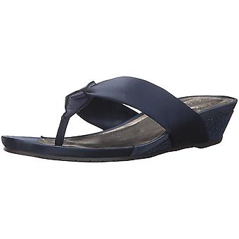 Kenneth Cole REACTION Women's Great Date Low Thong Satin Wedge Sandal
