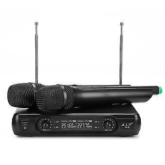 J.I.Y V-2 Wireless Dual Microphone Mic System for KTV Karaoke Speech Event États-Unis