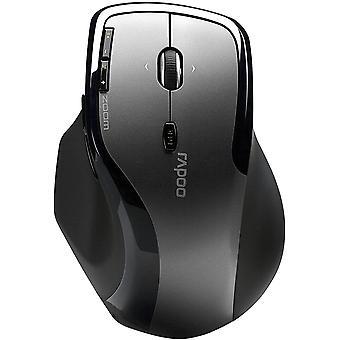 7600 Plus kabellose Maus mit 2,4 GHz Wireless-Verbindung, Nano USB-Empfänger, 1000 DPI Sensor, grau