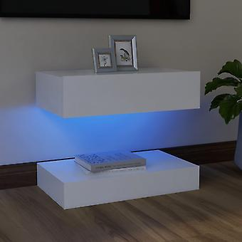 vidaXL TV-kaappi LED-valoilla Valkoinen 60x35 cm