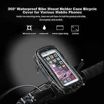 360° vodotesný držiak na bicykel Puzdro na bicykel Kryt bicykla pre rôzne mobilné telefóny
