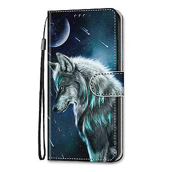 Case For Samsung Galaxy A52 4g/5g Painted Flip Cover Magnetic Closure Wolf