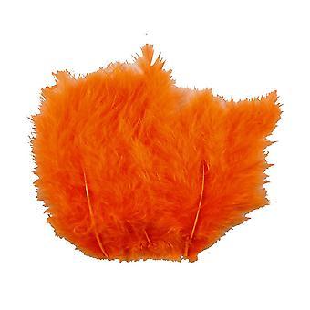 15 Oranje 12cm Pluizige veren voor ambachten