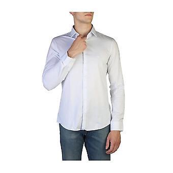 Calvin Klein -BRANDS - Vaatteet - Paidat - K10K104128-455 - Miehet - valkoinen, ruiskaunokinsininen - 41