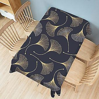 Plant Printed Tablecloth dining Table cover Mat Clothes Waterproof Anti scalding Tablecloths(Black)