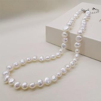 Classic Style Natural Freshwater Pearl Necklace(White)