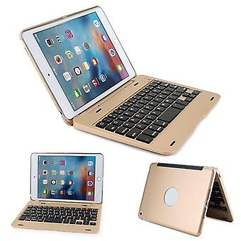 Qwert Smart Keyboard für Apple iPad mini tragbare seschickbare Design Tastaturen (golden)