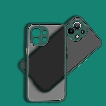 Balsam Xiaomi Mi 11 Case with Frame Bumper - Case Cover Silicone TPU Anti-Shock Dark Green