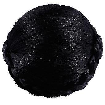 Ladies Hair Wig Hairpins Bun Chignons Hairpiece