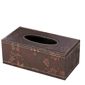 Pu Leather Facial Tissue Box Holder Standard Size Tissue Box Cover