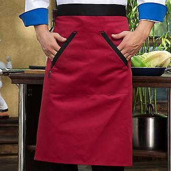 Men Short Sleeve Mesh Patchwork Chef Jackets