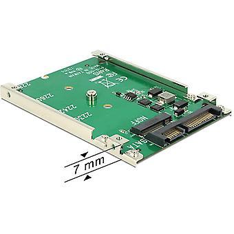 """DeLOCK m. 2 SSD adapter, m. 2-SATANISK 22-pin, 1 x 2, 5 """"placering, højde på 7 mm"""