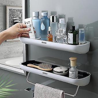 Bathroom accessory sets adhesive bathroom shelf organizer wall mounted shampoo spices shower storage rack holder bathroom