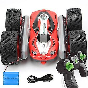 Robotic toys free dropshipping 360 degree flip kids robot rc cars toys for christmas gifts rc car 2.4G 4ch stunt drift