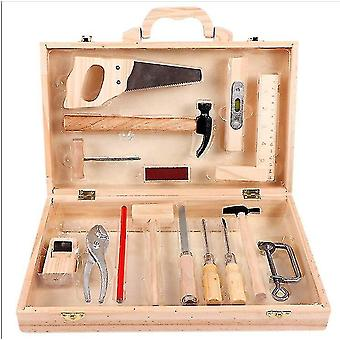 Venalisa Child Puzzle Game Maintenance Repair Toolbox Wooden Carpentry Tools Play House Toy Set For Kids