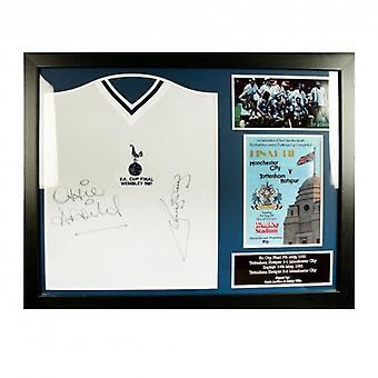Tottenham Hotspur Ardiles & Villa getekend Shirt (geframede)