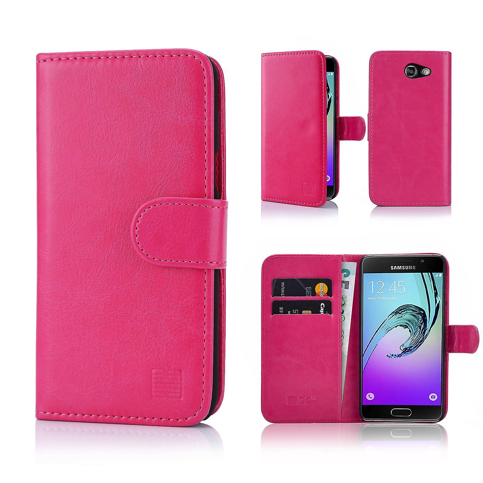 32nd Book wallet case + stylus for Samsung Galaxy J3 (2017)J327P - Hot Pink