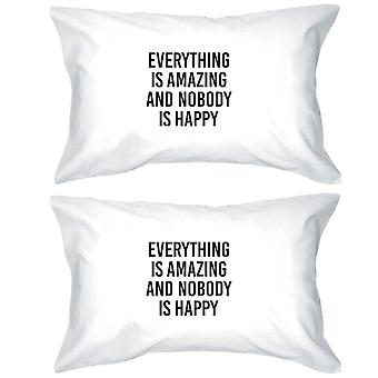 Everything Is Amazing Funny Quote Decorative Cotton Pillow Case