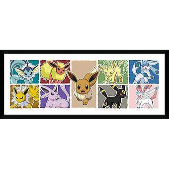 Pokemon Eevee Evolution Framed Collector Print