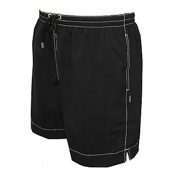 Jockey Contrast Waistband Swim Shorts, Black/White