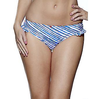 Audelle Seaside Fever Blue and White Bikini Pant 147270