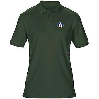 US-CIA-Spionage-Agentur Stickerei Logo - Herren Poloshirt