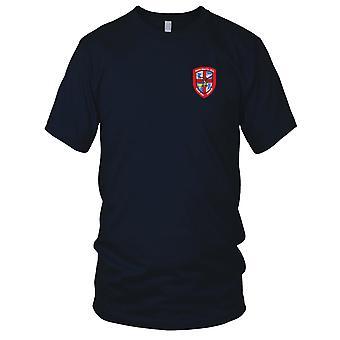 US Army - 1256th ilmailun lääkärin yritys Air Ambulance kirjailtu Patch - Miesten T-paita
