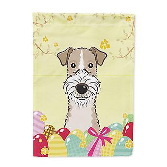 Rozmiar przewodu włosy Fox Terrier Wielkanoc Egg Hunt flaga ogród