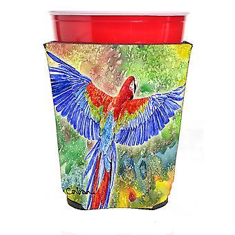 Carolines Treasures  8604RSC Parrot Red Solo Cup Hugger