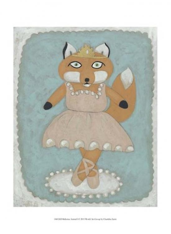 Ballerina Animal I Poster Print by Chariklia Zarris (10 x 13)