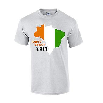 Ivory Coast 2014 Country Flag T-shirt (grey)