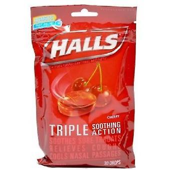 Hallene mentol muntlig bedøvende Drops Cherry