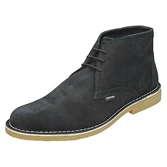 Mens Lambretta Ankle Boots Canary LG 14131 - Navy Suede - UK Size 6 - EU Size 40 - US Size 7