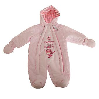 Nursery Time Baby Boys/Girls Sweet As Honey All In One Hooded Winter Snowsuit