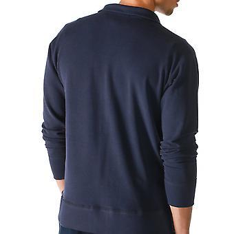 Mey 23593-668 mannen genieten van blauwe effen kleur Pajama pyjama's Top