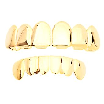Grillz - gold - * one size fits all *-SET