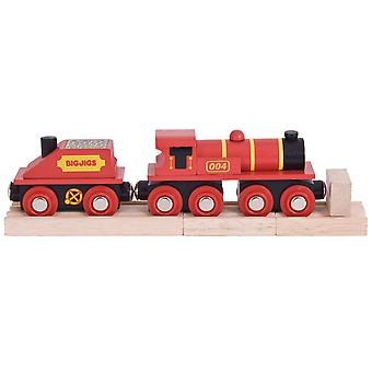 Bigjigs Rail Wooden Big Red Engine Locomotive Carriage Railway