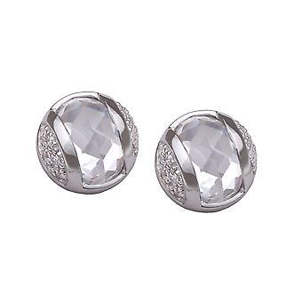 Orphelia Silver 925 Earring Ball Clear Zirconium  ZO-5911