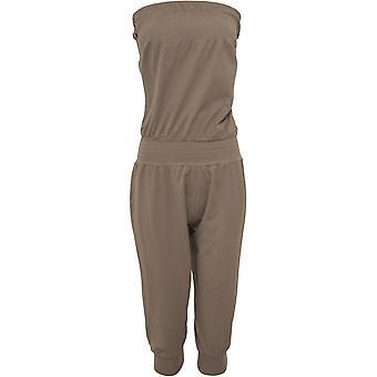 Urban classics ladies Capri jumpsuit strapless