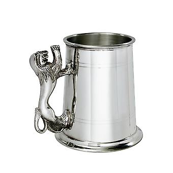 Lion behandelen 1 Pint tinnen Tankard