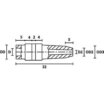 הלירמטיטון H126 PVC GY 1000 שרוול כבל מסוף Ø (מקסימום) 5 מ