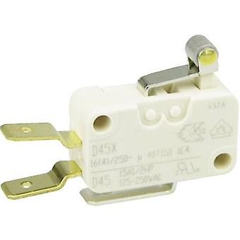 ZF Microswitch D45U-V3RA 250 V AC 16 A 1 x On/(On) momentary 1 pc(s)