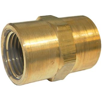 Big A 3-20380 Brass Fitting, Hex Coupling, 1/2